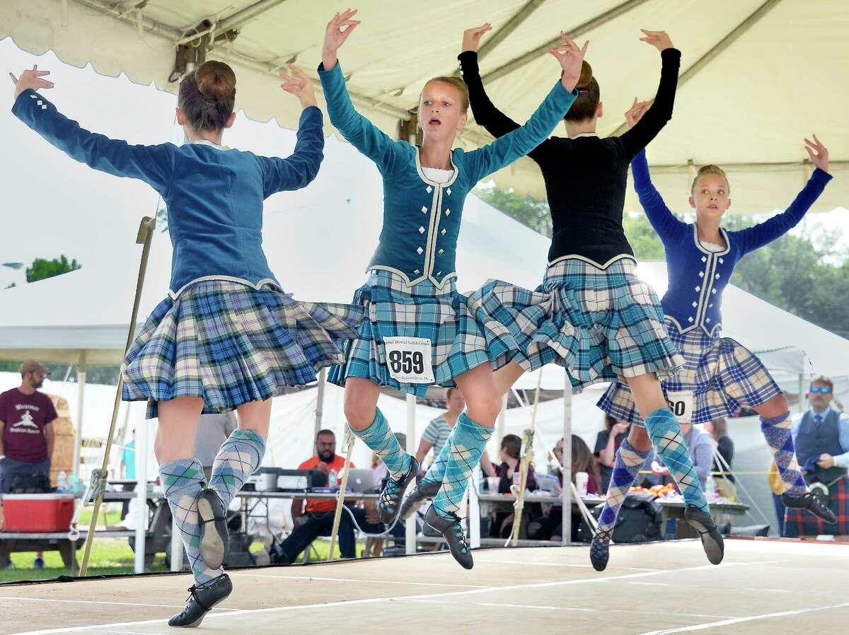 Keep clicking for more Capital District Scottish Games at the Altamont Fairgroundsthrough the years. Competitors in the under twelve class from Champaign, Ontario, Canada perform at the Scottish Games Saturday Sept. 1, 2018 in Altamont, NY. (John Carl D'Annibale/Times Union)