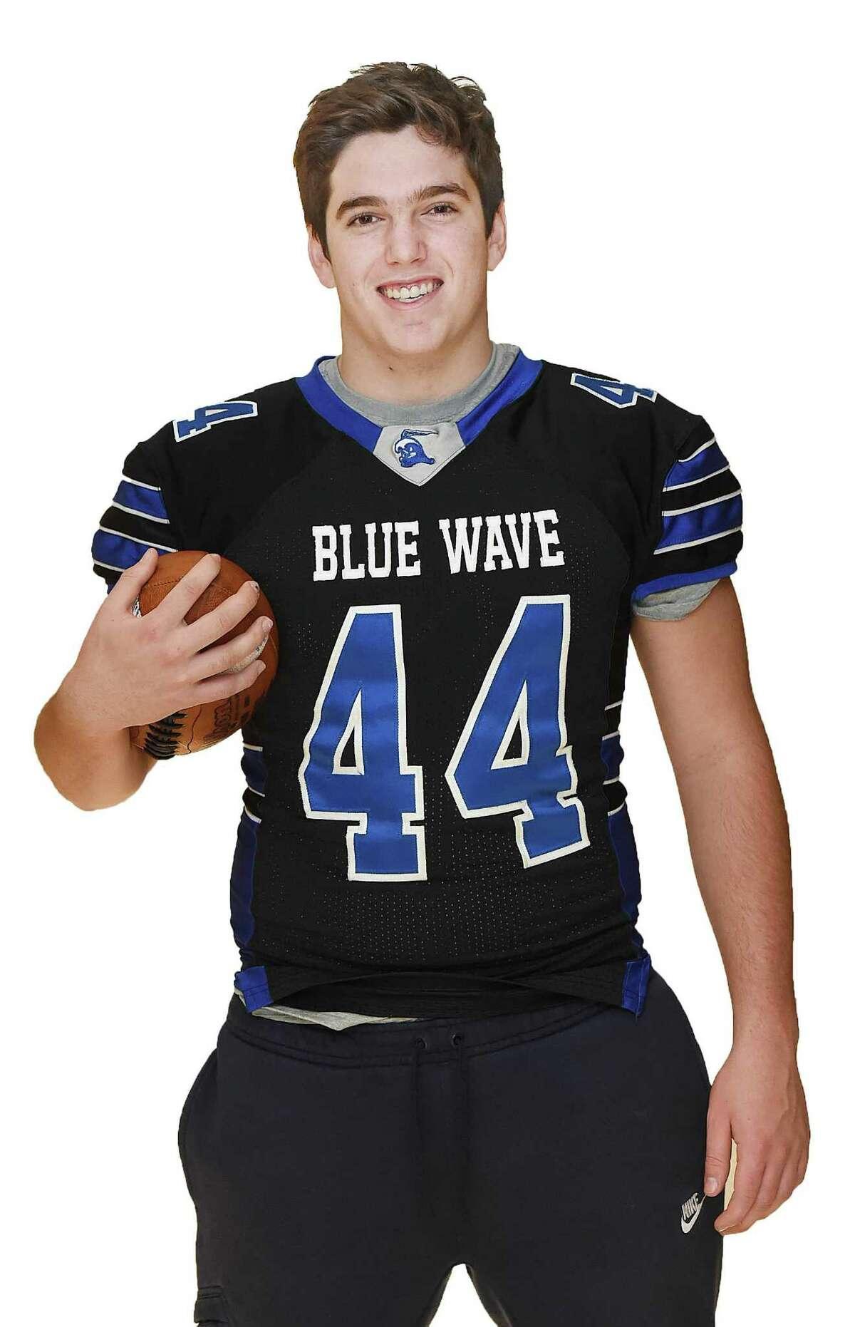 Connor Fay Darien High School All - State Football Tuesday, Dec. 20, 2017
