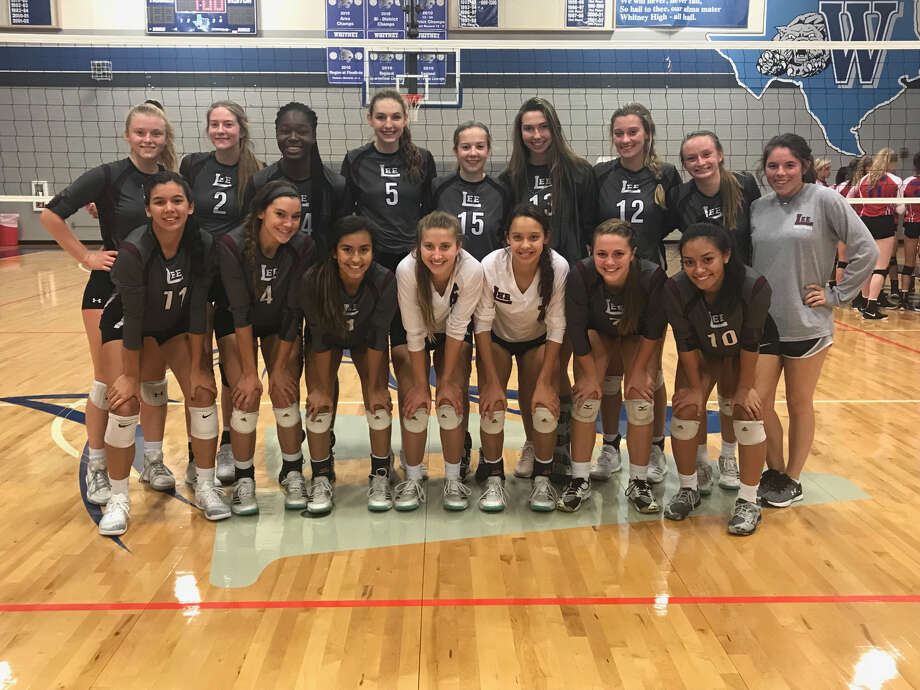 The Lee volleyball team poses after winning the Whitney Tournament Saturday with an unblemished 6-0 record. Photo: Courtesy Photo