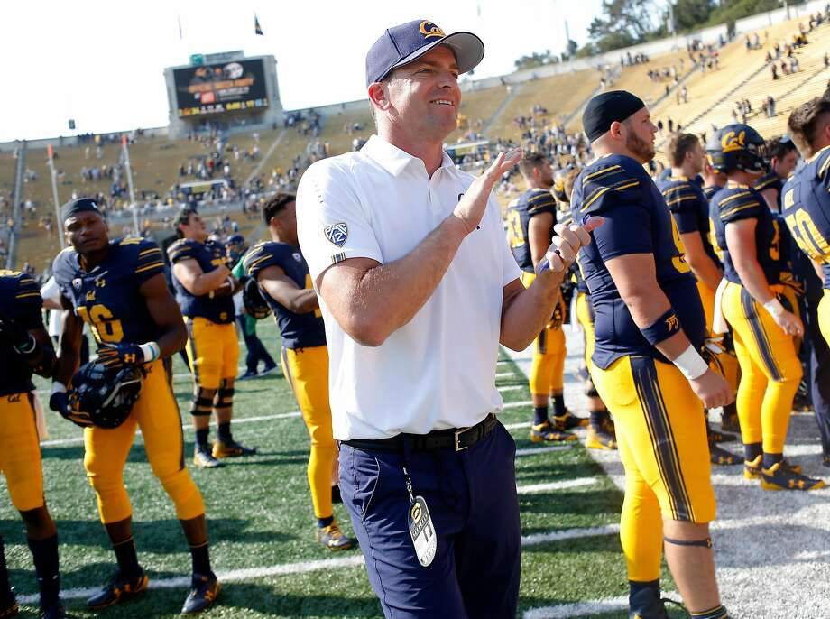 California Golden Bears head coach Justin Wilcox following an NCAA football game against the North Carolina Tar Heels at Memorial Stadium, Saturday, Sept. 1, 2018, in Berkeley, Calif. The Bears won 24-17. Photo: Santiago Mejia / The Chronicle 2018