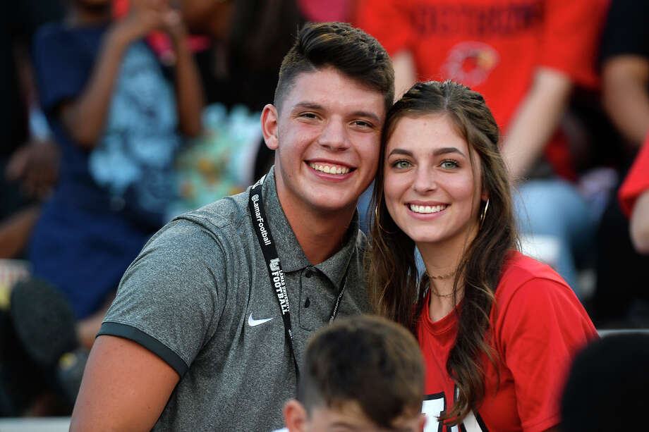 Lamar fans during their game against Kentucky Christian in their season opener at Provost-Umphrey Stadium. 