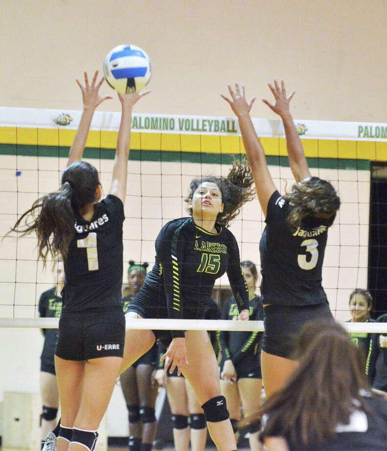 Isela Murillo combined for 21 kills in a pair of wins Saturday as Laredo College beat Illinois Central 3-1 and swept Brookhaven 3-0 to stay undefeated. Photo: Laredo Morning Times File