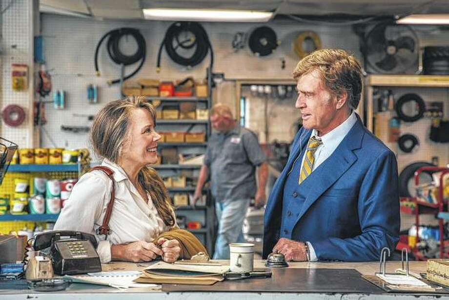 "Sissy Spacek and Robert Redford share a scene from the film ""The Old Man & The Gun."" Redford, who stars as an aged bank robber in David Lowery's film based-on-a-true-story heist, has said this role is likely to be his last in front of the cameras, though he still has hopes of directing more. Photo: Eric Zachanowich 
