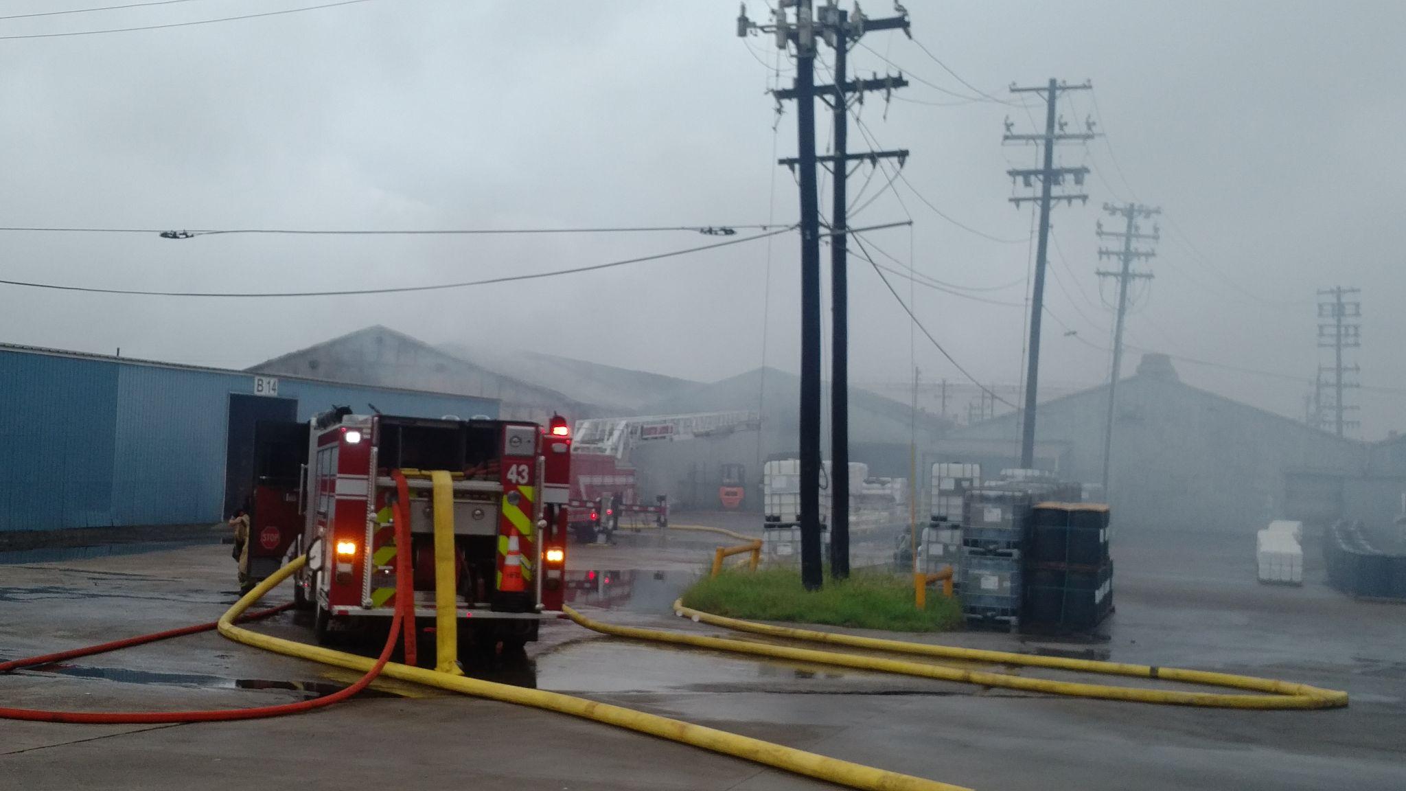 Two-alarm warehouse blaze draw firefighters to northeast Houston ...