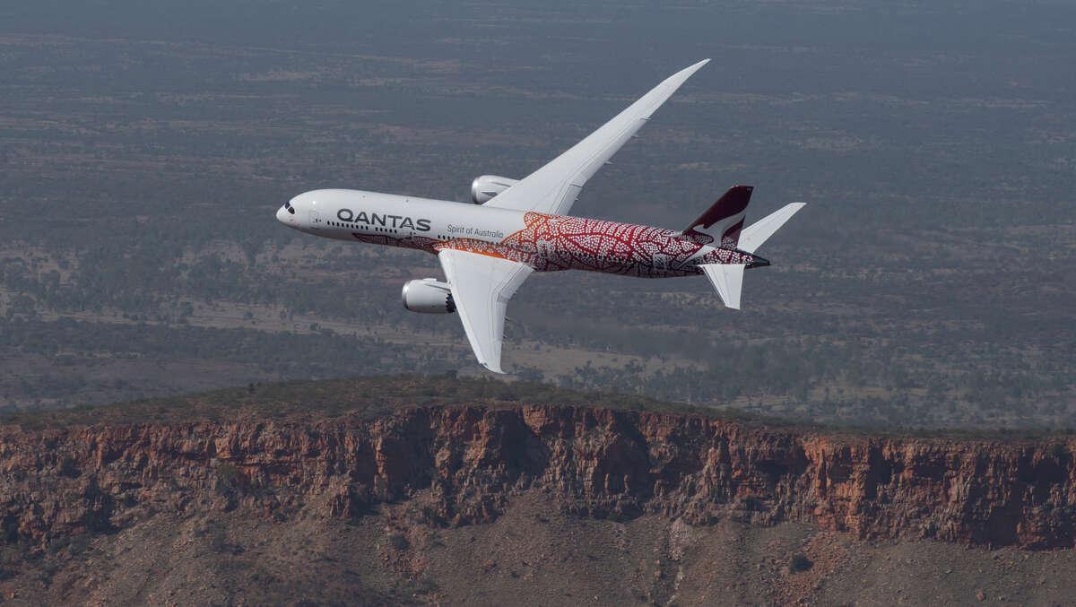 Qantas Airways kicks off new SFO-Brisbane nonstops Sunday Feb 9 using a Boeing 787-9 Dreamliner.