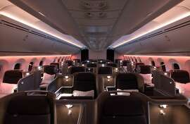 Business Class on the Qantas Airways Boeing 787-9 Dreamliner. Courtesy Qantas Airways.