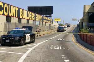 California Highway Patrol officers closed the northbound Highway 101 off-ramp at Duboce Avenue and Mission Street around 3 p.m. Sunday after a man was stabbed near the ramp.
