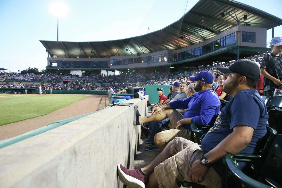 Fans watch the action as the Missions host Frisco at Wolff Stadium on August 24, 2018.
