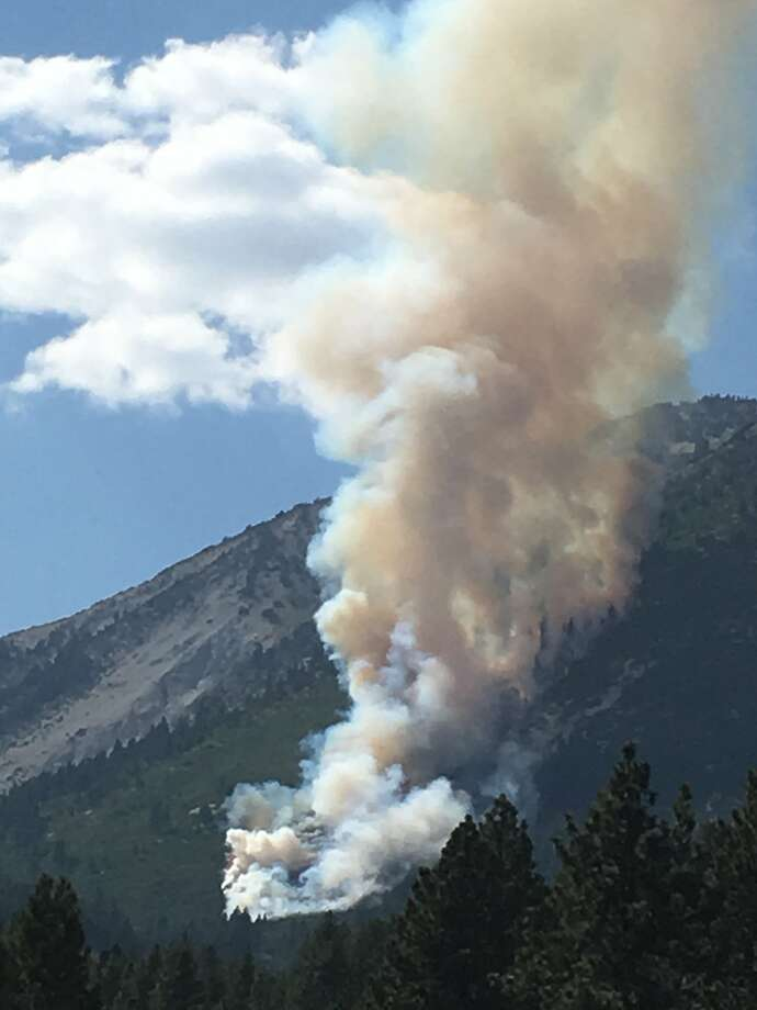 A fire burns on Slide Mountain in Nevada. Photo: Adam Mayberry / Truckee Meadows Fire Protection District