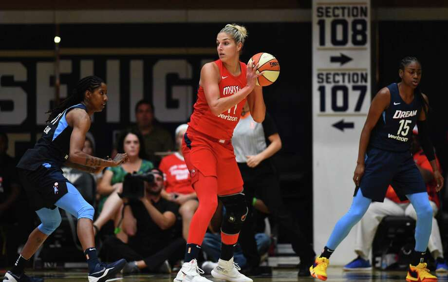 After missing Friday's Game 3, Washington all-star forward Elena Delle Donne returned from a knee injury to start Game 4 on Sunday and play 33 minutes 42 seconds. Photo: Washington Post Photo By Katherine Frey / The Washington Post
