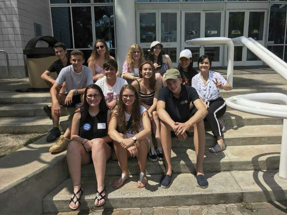 The 12 Inbound Rotary Youth Exchange Students gathered at Moody Gardens and other attractions in Galveston for a weekend of fun in the sun and getting to know one another.