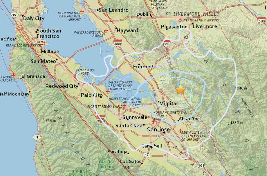 Magnitude 3.4 earthquake strikes near Milpitas, CA - SFGate