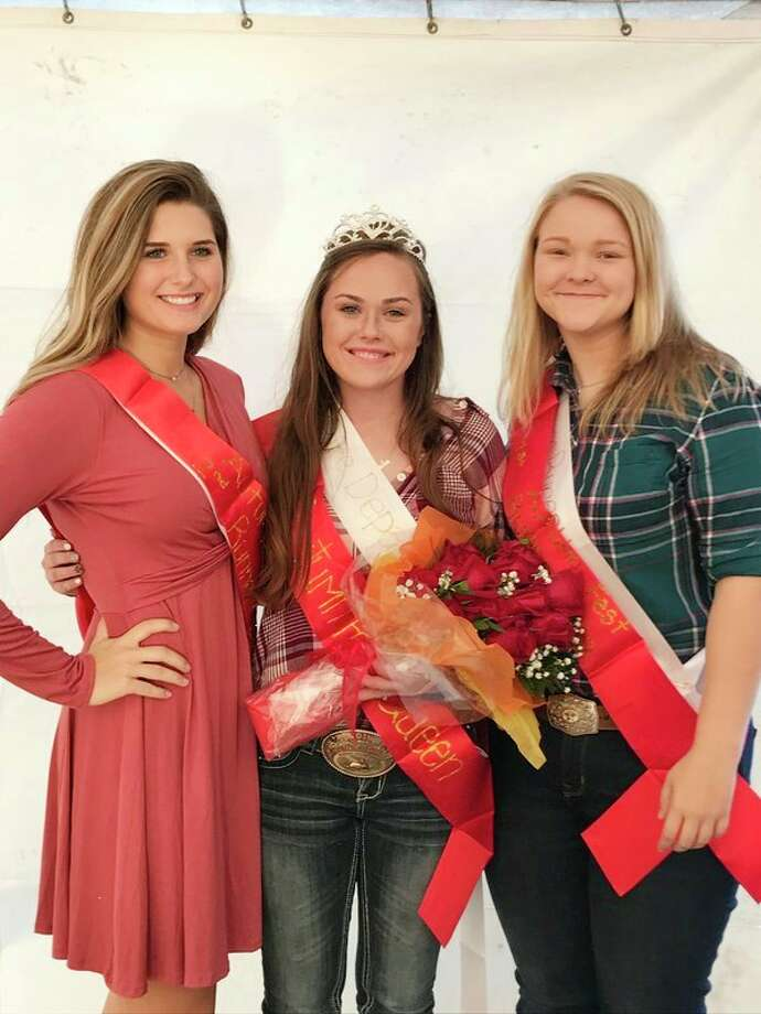 Elkton crowned this year's AutumnFest queen Friday night. They are (from left): Abigail Schuette, second runner-up; Raylee Jeffers, queen; and Haley McArdle, first runner-up. (Submitted Photo)