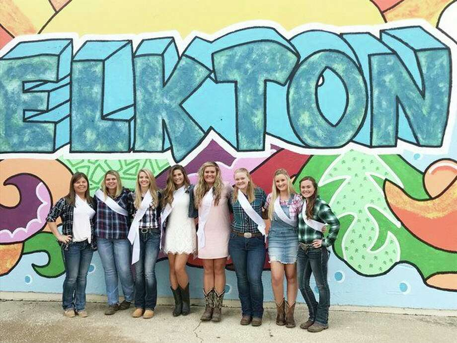 The candidates for Elkton's AutumnFest Queen were (from left): Katlin Kady, Kimberly Rowe, Tiffany White, Abigail Schuette, Kaylee Krohn, Haley McArdle, Madison Briesmeister and Raylee Jeffers. (Submitted Photo)