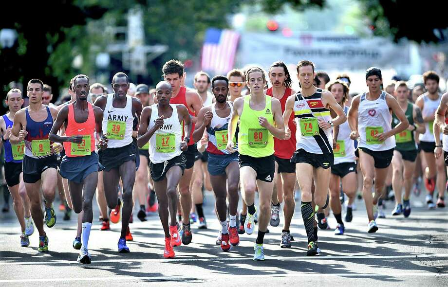The start of the Faxon Law New Haven Road Race 20K National Championship, Monday, September 1, 2018 in downtown New Haven. Photo: Catherine Avalone / Hearst Connecticut Media / New Haven Register