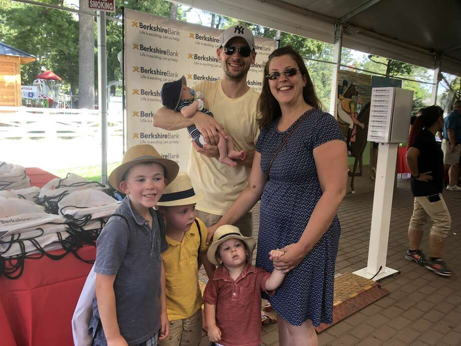 Were you Seen during the Berkshire Bank & Hannaford Supermarkets Backpack Giveaway at Saratoga Race Course on Monday, September 3, 2018? Photo: Cait Perry/ELA