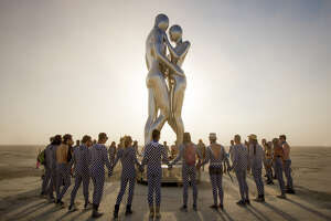 Some of the art installations at Burning Man 2018. The annual event's art theme this year was I, Robot.