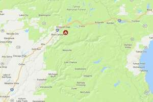 Location of the fire off I-80 on Labor Day.