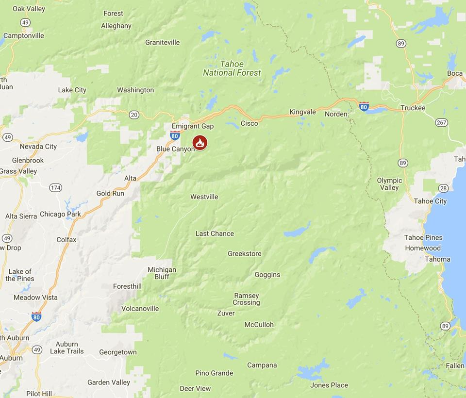 Wildfire forces evacuations in Tahoe National Forest ...