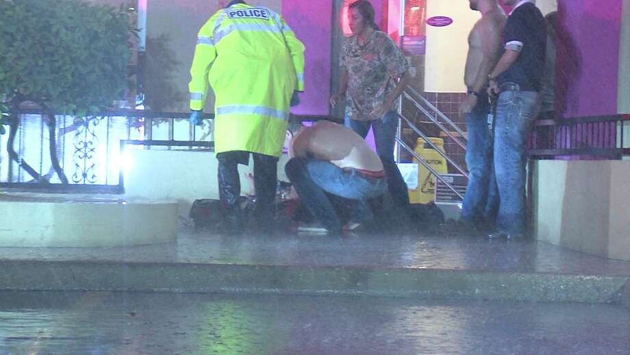 The victim arrived to the restaurant, located in the 8500 block of Blanco Road, on foot around 10:30 p.m. and approached an employee at the drive-thru window before stumbling to the front entrance, where he collapsed. Photo: Ken Branca