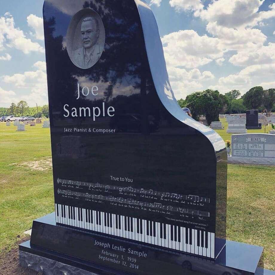 The headstone for jazz legend Joe Sample. Photo: Courtesy Yolanda Sample