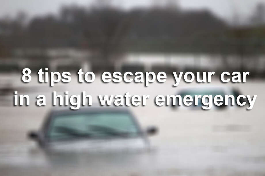 Perhaps you missed the barrier, a flash flood takes over the road you're on, or you hydroplane — whatever the circumstances, the eight tips for how to escape your car in the event of a high water emergency in the following slideshow could help save your life. Photo: Tom Fox/AP / Tom Fox