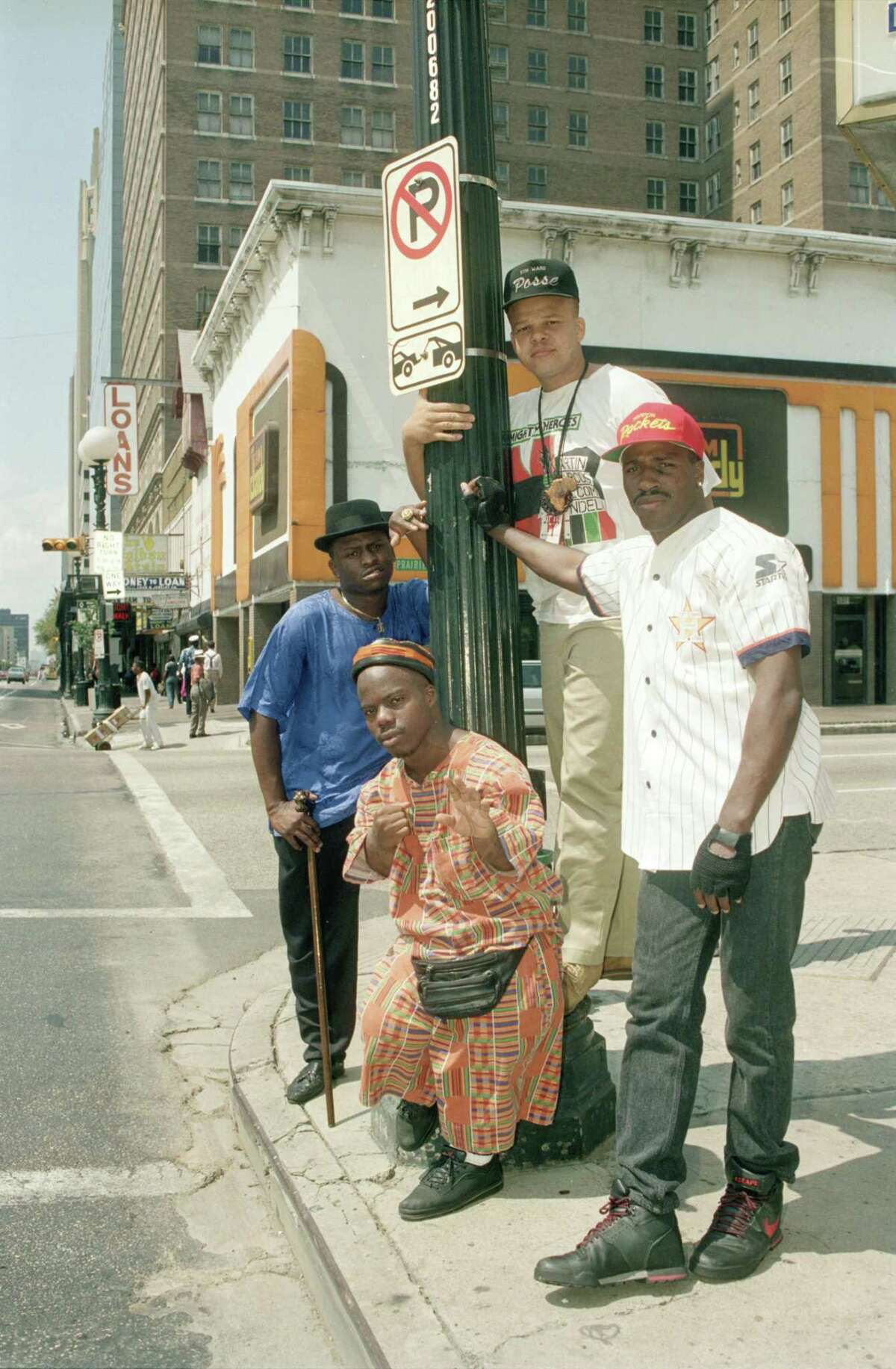The Geto Boys in 1990. From left, Akshen/Scarface, D.J. Ready Red, Bushwick, and Willie D.