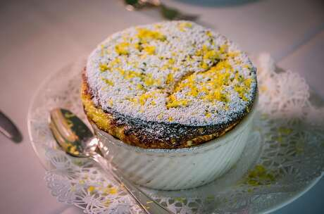 The lemon souffle at Cafe Jacqueline in North Beach. Photo: John Storey / Special To The Chronicle