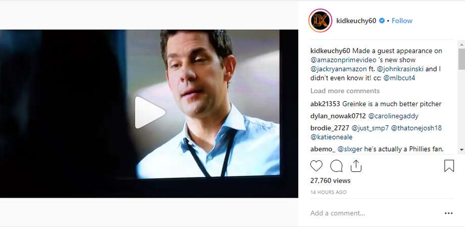 """PHOTOS: Astros' Keuchel among star athletes featured in ESPN body issueAstros pitcher Dallas Keuchel was surprised to hear his name on the new Amazon show """"Jack Reacher,"""" starring John Krasinski.>>> See the other athletes who showed off their physique this year Photo: Dallas Keuchel/Instagram"""