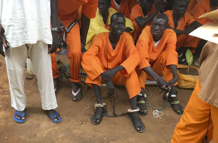 Prisoners gather at a prison in Juba. Some have languished in jail since civil war began in 2013. Photo: STR, Associated Press
