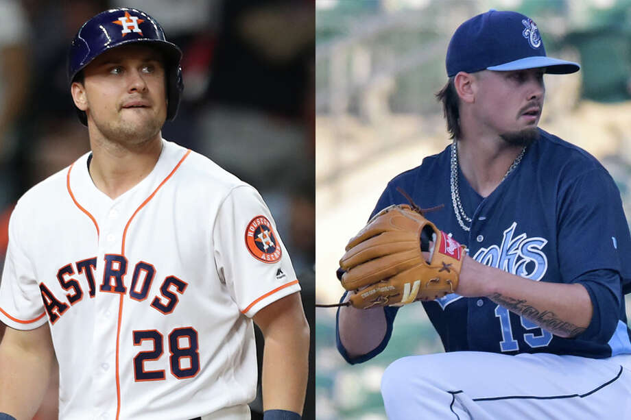J.D. Davis (28) and Dean Deetz will join the Astros' ever-expanding roster for Tuesday's game. Photo: Houston Chronicle File And Wire Services