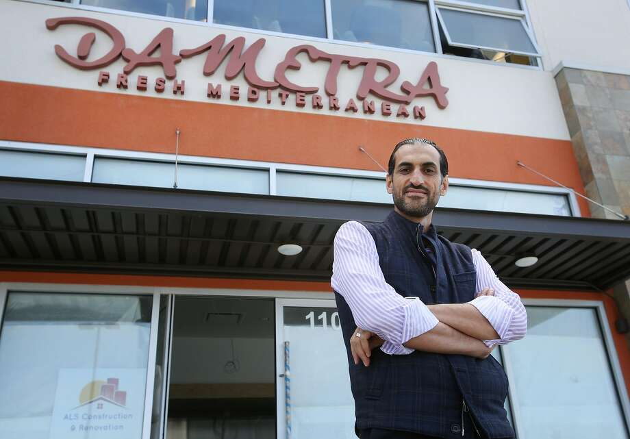 Bashar Sneeh is opening a new Dametra restaurant in the city of Marina, now under construction, with the historic bar from Fort Ord's Stilwell Hall being installed. Photo: Patrick Tehan / Special To The Chronicle