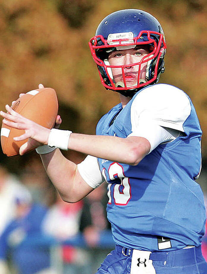 Carlinville's Jarret Easterday has moved past older brother Joeb Easterday to grab school records in career passing yards, touchdowns and completions. Photo: James B. Ritter | For The Telegraph