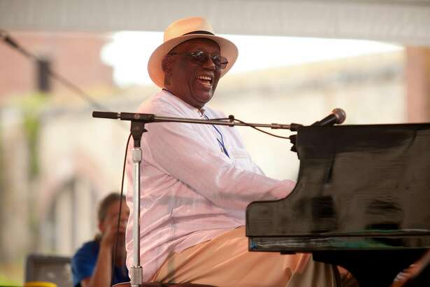 FILE -- Randy Weston performs at the Newport Jazz Festival, in Newport, R.I., Aug. 6, 2011. Weston, an esteemed pianist whose music and scholarship advanced the argument � now broadly accepted � that jazz is, at its core, an African music, died on Sept. 1, 2018 at his home in Brooklyn. He was 92. (Erik Jacobs/The New York Times)