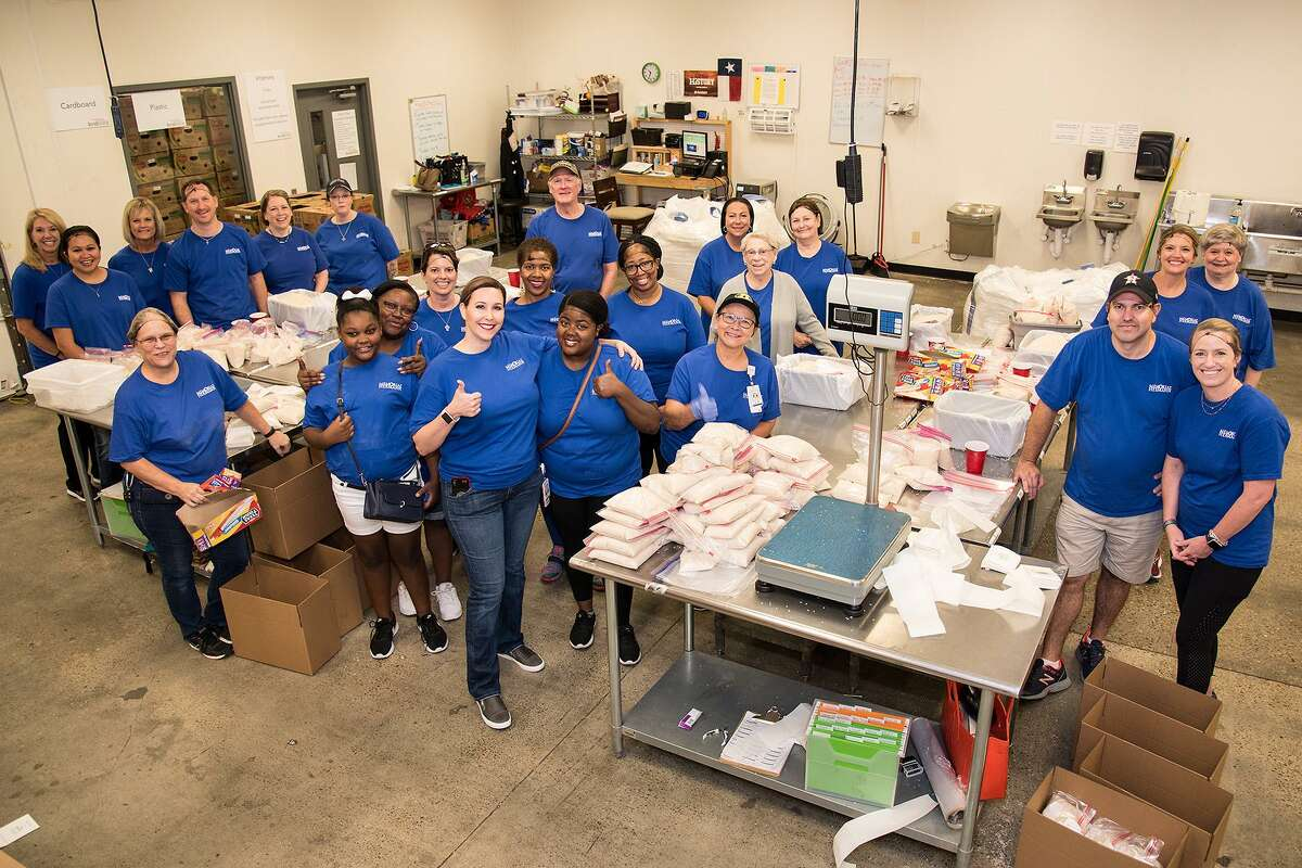 Memorial Hermann employees volunteered at Houston and Montgomery County Food Banks, Marshall Middle School and Castillo Park as part of Hometown Healing, a volunteer initiative held to commemorate the one-year anniversary of Hurricane Harvey.