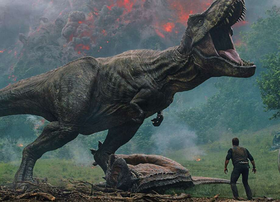 "Dinosaurs face extinction again in ""Jurassic World: Fallen Kingdom."" Photo: Universal Pictures / Los Angeles Times"
