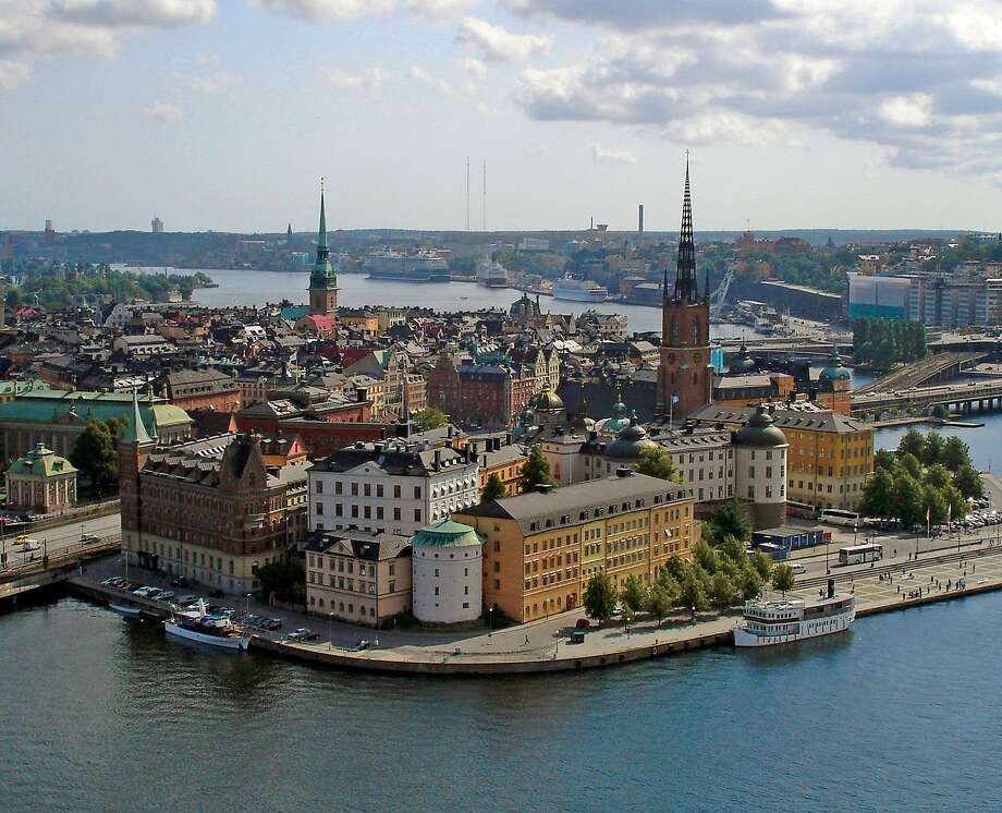 Stockholm's Riddarholmen district — viewed here from City Hall — is tourable by bike. Photo: Cameron Hewitt / Rick Steves' Europe