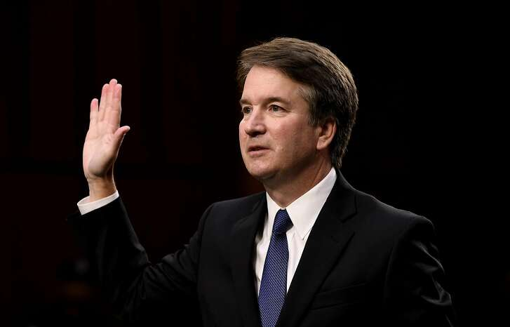 Supreme Court nominee Brett Kavanaugh is sworn in before testifying at his confirmation hearing in the Senate Judiciary Committee on Capitol Hill Sept. 4, 2018 in Washington, D.C. (Olivier Douliery/Abaca Press/TNS)