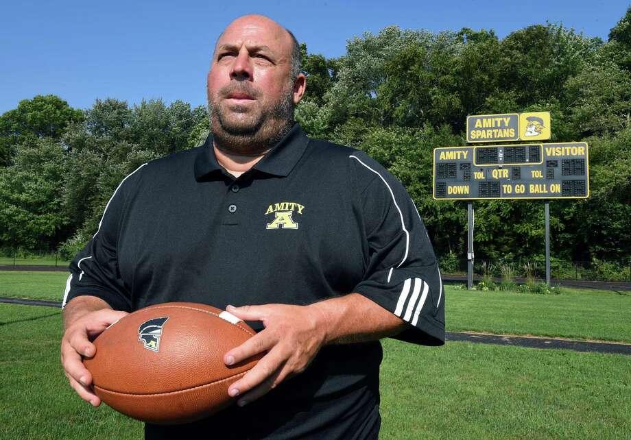 Amity Regional High School football coach Craig Bruno. Photo: Arnold Gold / Hearst Connecticut Media / New Haven Register