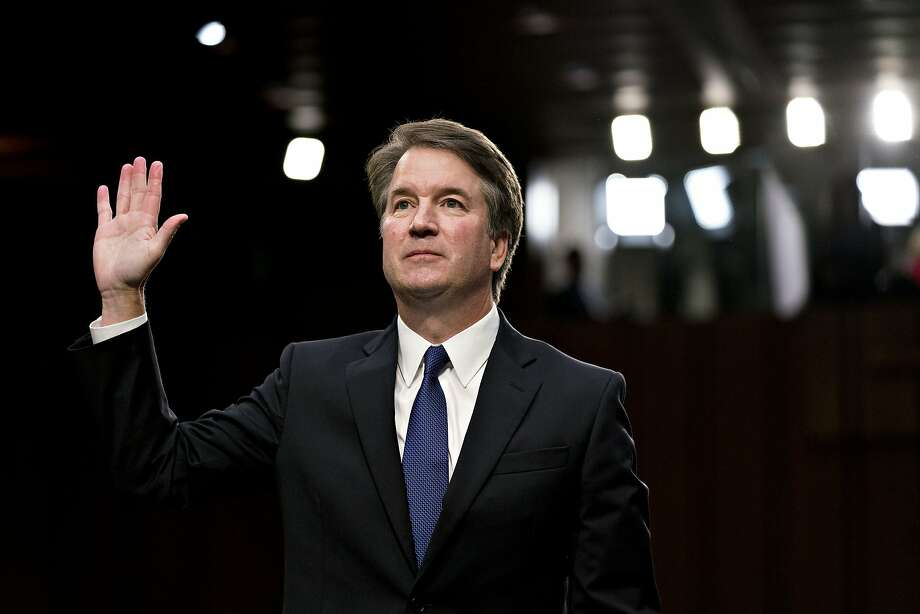 Brett Kavanaugh, U.S. Supreme Court associate justice nominee for U.S. President Donald Trump, swears in to a Senate Judiciary Committee confirmation hearing in Washington, D.C., U.S., on Tuesday, Sept. 4, 2018. If confirmed, Kavanaugh would fortify the high court's conservative majority, and spotlight the rightward march of the federal judiciary under Trump and the GOP-controlled Senate. Photographer: Andrew Harrer/Bloomberg Photo: Andrew Harrer, Bloomberg