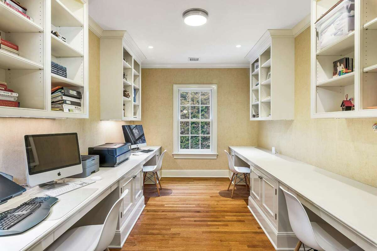 Listed by Sotheby's International Realty for $4.45 million, 8 Hedgerow Lane in mid-country, is a 17-room, 1975 colonial thats been renovated by Granoff Architects. The 7,658-square-foot has both a mudroom and a dedicated homework room both with built-in organization.
