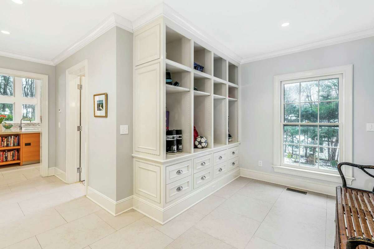 Listed by Sotheby?'s International Realty for $4.45 million, 8 Hedgerow Lane in mid-country, is a 17-room, 1975 colonial that?'s been beautifully renovated by Granoff Architects. The 7,658-square-foot has both a mudroom and a dedicated homework room ?- both with built-in organization.