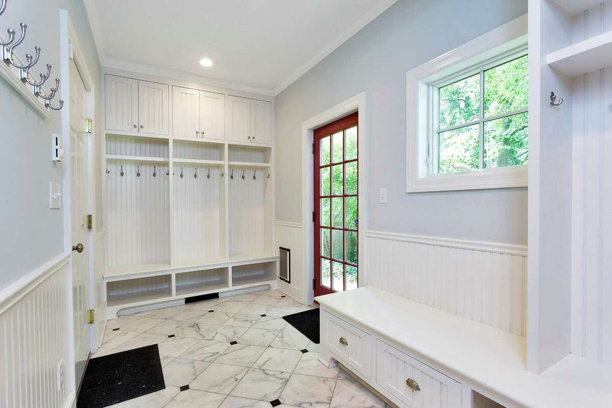 Listed for $2.65 million, 119 Lockwood Road in Riverside has rooms on both the first and second level that could be dedicated to homework time. The home's mudroom with built-in organization and bench seating is a great space to store outerwear and school or sports gear.