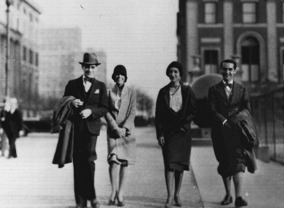 Federico Garcia Lorca, right, walks with friends near New York's Columbia University in this undated file photo. The most translated Spanish poet wrote of true poetry as having duende, a dark energy interpreted as demon or daimon — a sort of muse. Photo: /AP / FUNDACION FEDERICO GARCIA LORCA