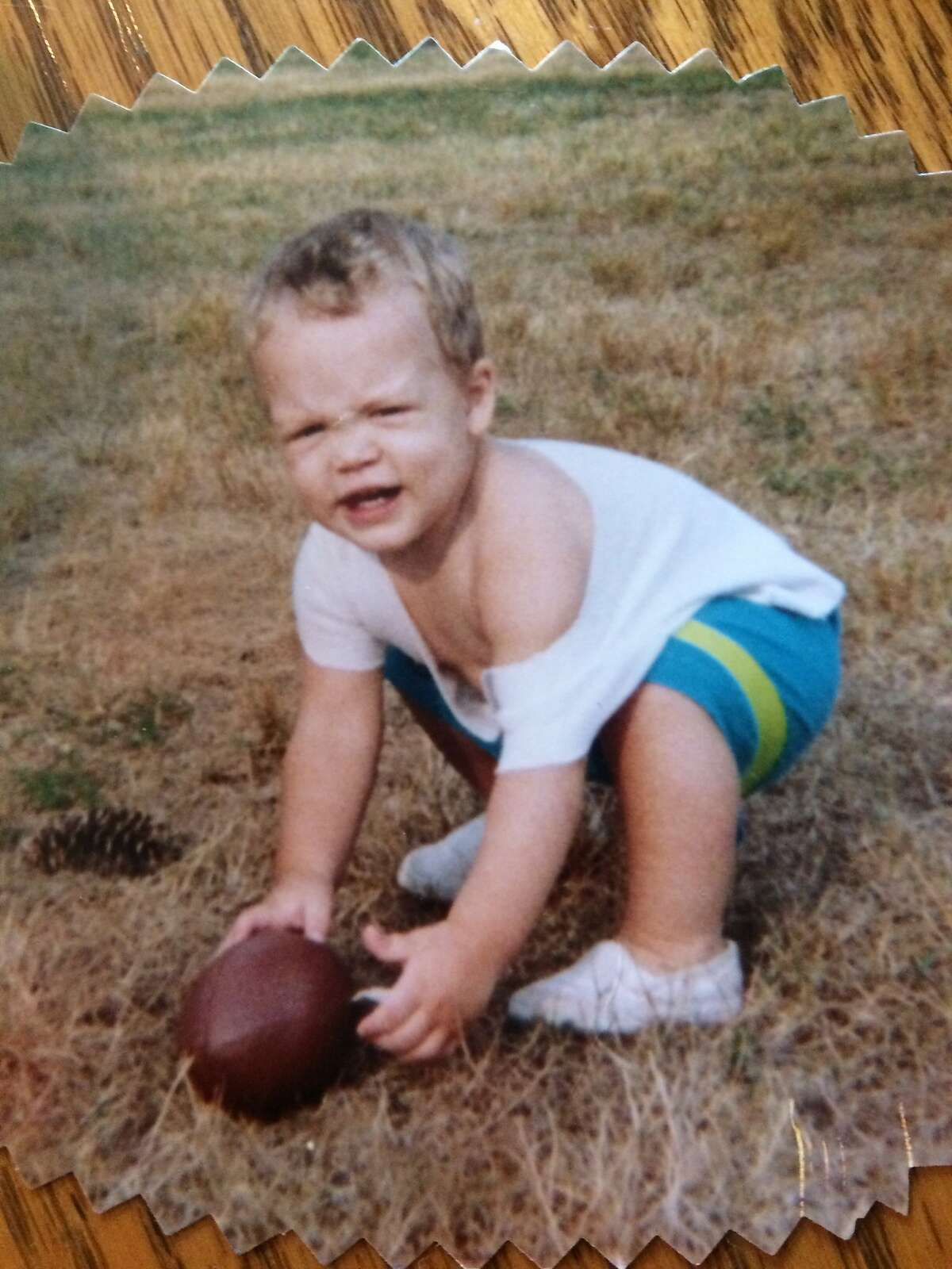 Raiders safety Erik Harris shows an early affinity for football in a family photo.