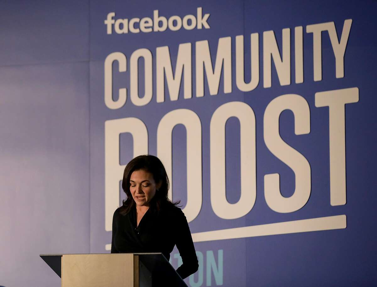 Sheryl Sandberg, chief operating officer of Facebook, apologizes for privacy issues at the company during her opening remarks, during an event at the Julia Ideson Building, Tuesday, April 3, 2018, in Houston. ( Jon Shapley / Houston Chronicle )