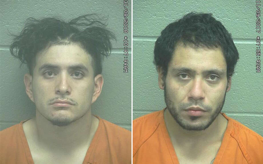Raul Martinez Sanchez, 23, and Joseph Sedillo Montoya, 25, were arrested Thursday after they allegedly took items from a residence's patio area. Photo: Midland County Sheriff's Office