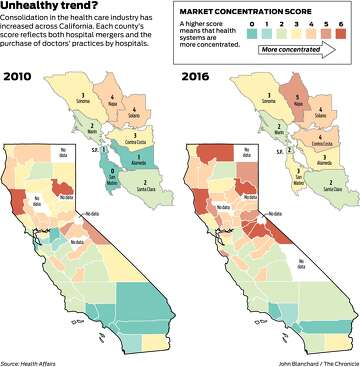 Map Of California Hospitals.Hospital Consolidation In California Linked To Higher Health Prices