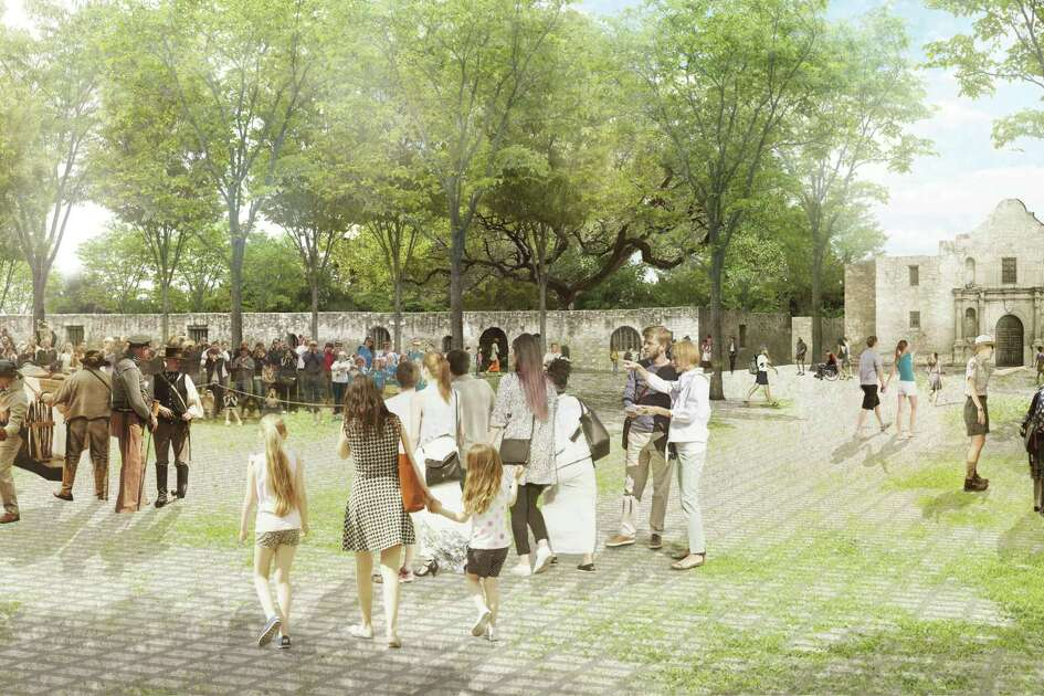 City and Texas General Land Office say relocation of the Alamo Cenotaph would provide unhindered views of the only two remaining mission-era structures on the site, and more space to experience the 1700s mission and 1836 battleground.