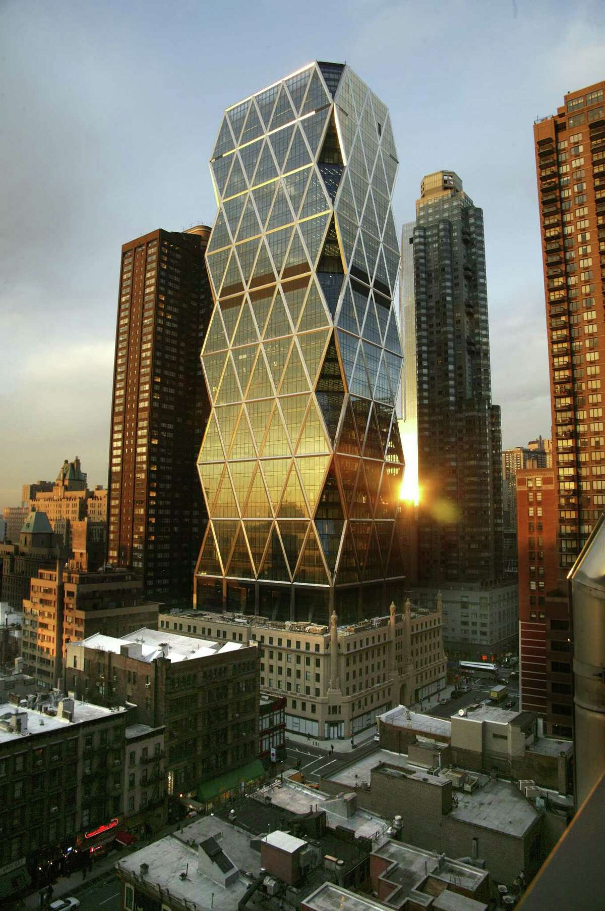 The Hearst Tower in New York City is a successful example of the merging of old and new commercial structures.
